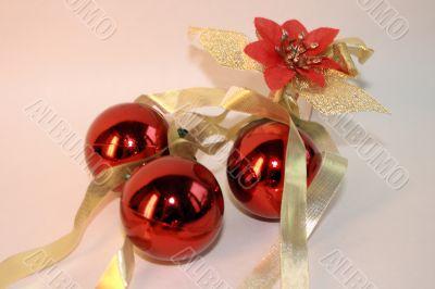 christmass balls & ribbon