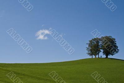 Nature minimalism: Summer landscape
