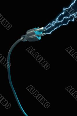 Power plug - electric sparks