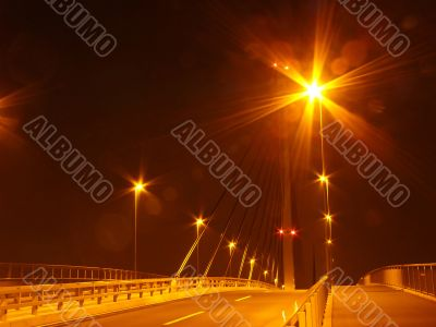 night city bridge illumination
