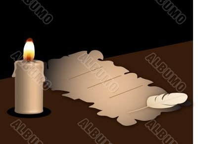 Parchment and the candle