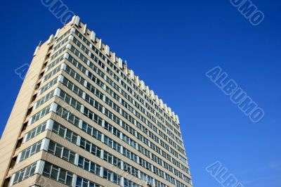Blue sky over modern urban building