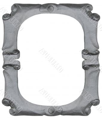 Isolated empty silver handmade frame
