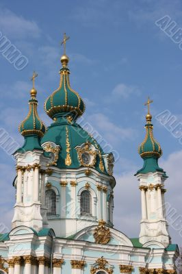 St. Andrew`s Cathedral in Kyiv Ukraine