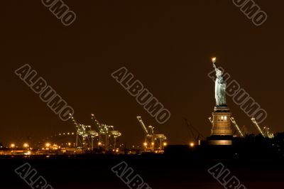 Statue of Liberty at Night, NY