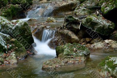 Flowing water of a creek