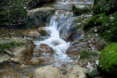 Flowing water in the creek