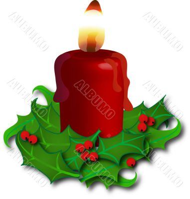 Holly candlestick