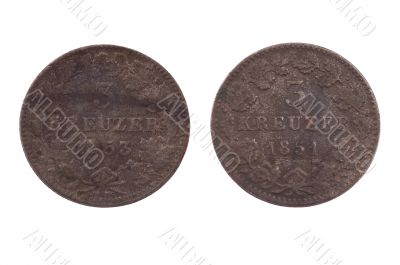 Two ancient German coins of different face value