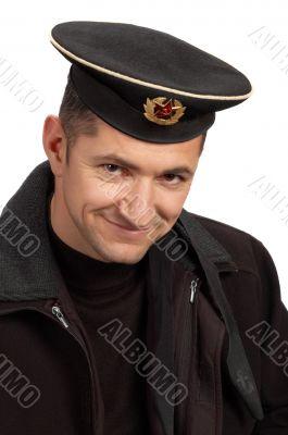 military sailor in black uniform