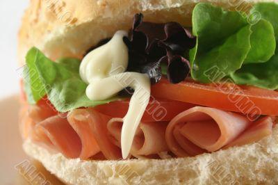 Ham And Salad Roll 9