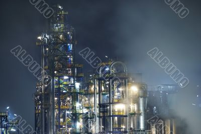 Oil refinery at blue night