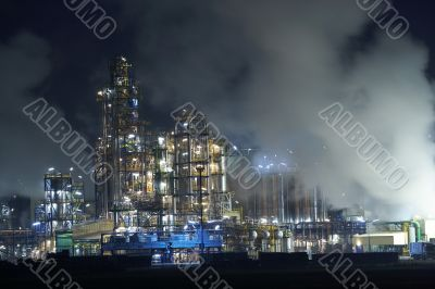 Oil factory steaming