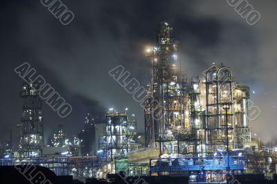 Big oil refinery