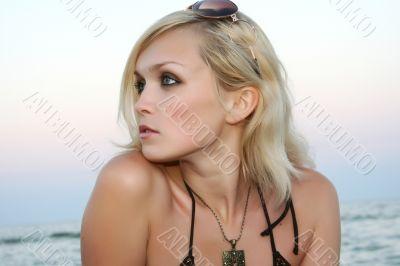 the girl on a beach