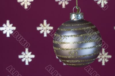 Christmas ball background (selective a soft focus)