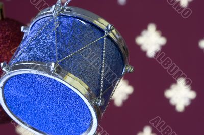 Christmas drum background (selective and soft focus)