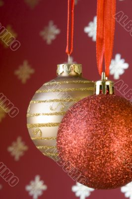 Christmas ball background (selective and soft focus)