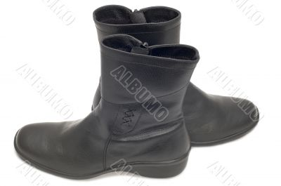 top boot on white
