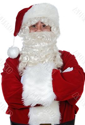 Santa Claus with arms crossed