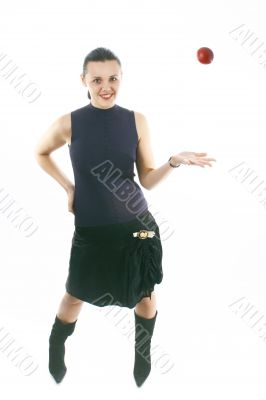 Young woman in a skirt