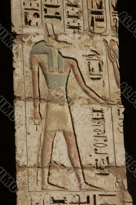 Anubis engraving in the Habu Temple