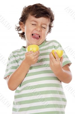 Eating a lemon