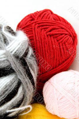 Yarn for knitting.