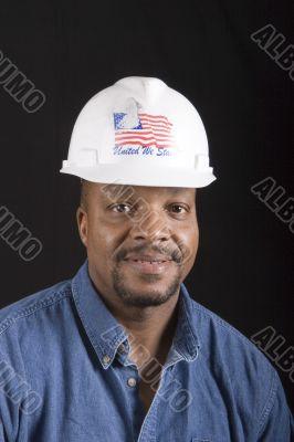 Smiling Man in Hard Hat