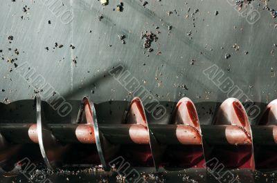 Wine production screw auger
