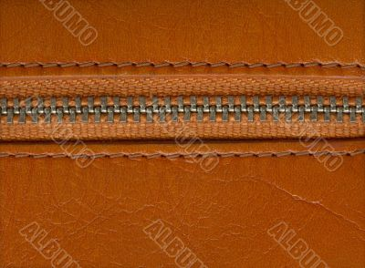 fashion material with zipper fastener