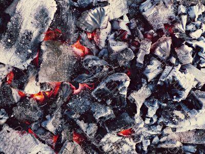 incandescent coal background