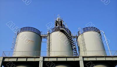 huge industrial reservoir barrels