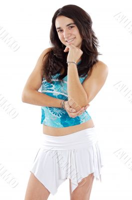 attractive young casual girl
