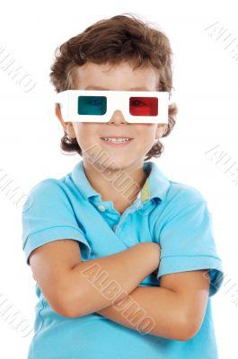 child whit 3d glasses