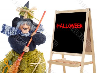 witch whit slate and text halloween