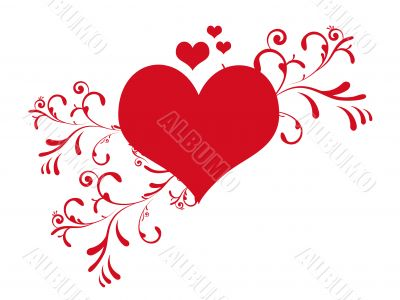 Cute valentine`s day heart vector illustration