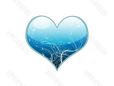 Vector illustration of a blue heart