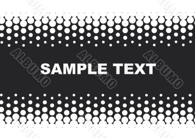 halftone background in black and white