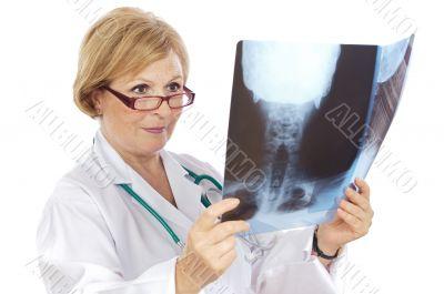 Female doctor radiologist
