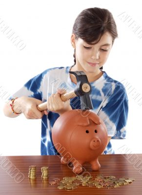 breaking the money box
