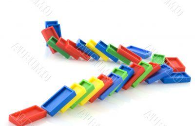 fallen domino rally