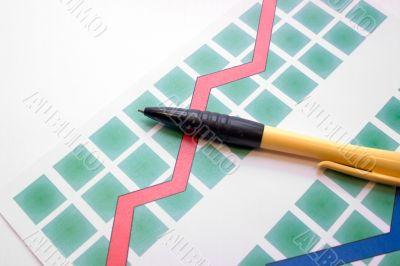 pen on the diagram