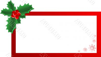 Christmas Holly banner