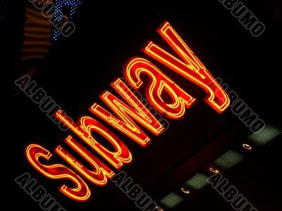 Neon Subway Sign, NYC