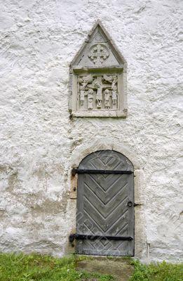 Door of old church