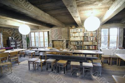 old library in countryside