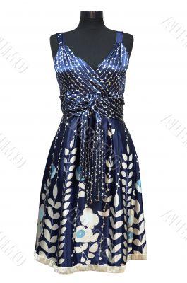 Dark blue female dress