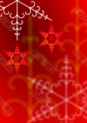 Warm soft focus Christmas snowflakes