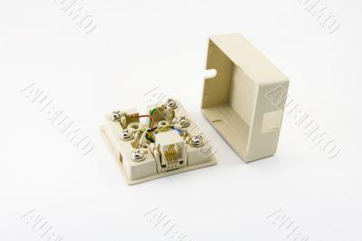Telephone box of the plug
